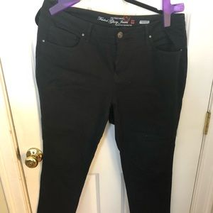 Ultra Skinny stretch black jeans